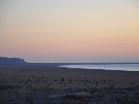 Sunset at the Aral Sea