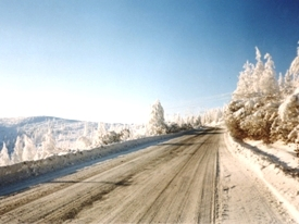 Winter road in Siberia