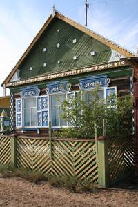 Wooden siberian house