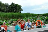 Tour of the lotus fields in Volga River